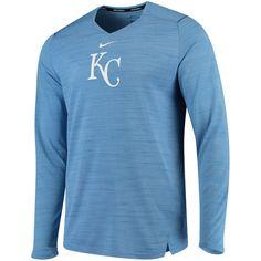 a5bdc57dd5e0 Men s Kansas City Royals Nike Light Blue AC Breathe Long Sleeve Performance  T-Shirt