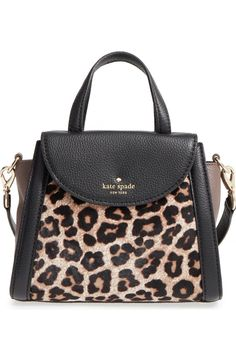 3580c1c43 kate spade new york 'cobble hill - small adrien' genuine calf hair satchel  | Nordstrom. Der LeopardLeopard PurseLeopard ...