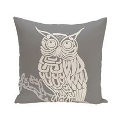 Hootie Animal Print Polyester Throw Pillow