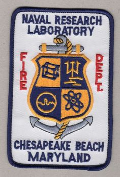 MARYLAND - Defunct - Chesapeake Beach Naval Research Laboratory Fire Patch !