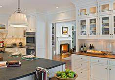 White cabinets Modern Farmhouse Style | hookedonhouses.net