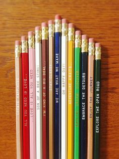really cute sayings! Pick a Pencil 12 Pack Makes a Great Gift  Over 20 to by Earmark, $15.00