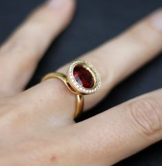 The Andrew Geoghegan Reflect Raspberry Cocktail Ring in Yellow Gold   http://www.andrewgeoghegan.com/…/cocktail…/reflect-raspberry #cocktailring #jewellery #designer #andrewgeoghegan #diamonds www.andrewgeoghegan.com