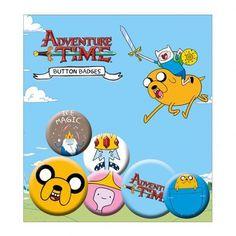 Adventure Time Button Badge Set