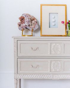 Inspired by century Swedish Gustavian design, the Aria Collection is characterized by clean lines, soft colors, and delicate hand carvings Book Shelves, Soft Colors, Clean Lines, 18th Century, Decorative Boxes, Delicate, Carving, Cleaning, Inspired