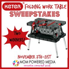 Keter Folding Work Table - Perfect addition to any workshop {Review + Giveaway} - Sweet Southern Lovin