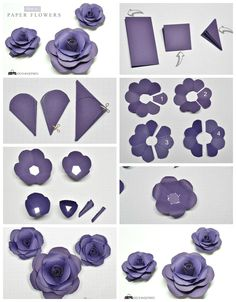 How To Make Paper Flowers - Tutorial . - Wie man Papierblumen macht – Tutorial … How to make paper flowers – tutorial of flowers… Paper Flowers Craft, How To Make Paper Flowers, Large Paper Flowers, Paper Flower Wall, Paper Flower Backdrop, Flower Crafts, Diy Flowers, Fabric Flowers, Paper Flowers Roses