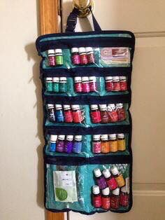 Awesome idea to store essential oils if my collection grows