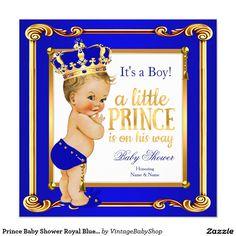 Prince royal blue baby shower regal gold boy 2 5x7 paper invitation prince royal blue baby shower regal gold boy 2 5x7 paper invitation card back side morrocan babyshower pinterest babyshower filmwisefo