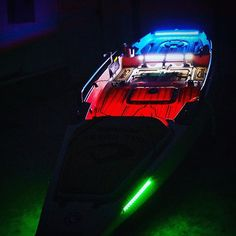 Great pic from @slcfishing of his Blue Water LED Night Blaster Kayak kit. Great value for $98.99. #wehavegreatcustomers #kayak #fishingkayak #kayakfishing