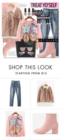 """""""Romwe 2"""" by e-mina-87 ❤ liked on Polyvore featuring WithChic, Victoria's Secret and Karl Lagerfeld"""