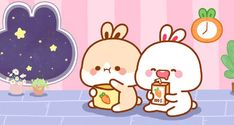 Cute Cartoon Pictures, Cute Cartoon Animals, Cute Pictures, Cute Cat Wallpaper, Kawaii Illustration, Cute Gif, Cute Characters, Anime Art Girl, Cute Bunny