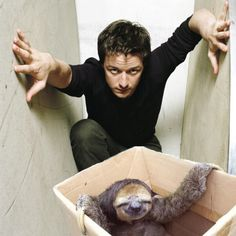 James McAvoy does his best sloth impression