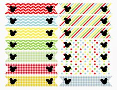 Free Printable: Mickey Mouse Clubhouse Inspired Straw Flags