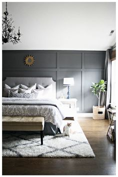 Home Accents DIY Bedrooms - 47 Warm and Cozy Master Bedroom Decorating Ideas. Diy Wall Decor For Bedroom, Home Decor, Bedroom Ideas, Bedroom Inspiration, Bedroom Wallpaper Accent Wall, Accent Walls, Above Bed Decor, Master Bedroom Design, Bedroom Modern