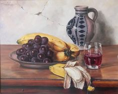 Oswald Eichinger (Born German Still Life With Fruit Oil / PanelThis painting was part of the Hancock Park estate. The only information I could find on Eichinger was that he was born in 1915 in G. Still Life Fruit, Selling Antiques, Be Still, German, Oil, Puzzles, Art, Deutsch, German Language