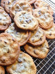 King Arthur Chocolate Chip Cookie Recipe: buttery and crispy on the outside, chewy on the inside...
