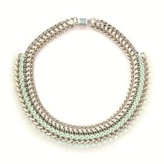 Crystal Statement Pastel Green Necklace #juniiqjewelry #spring #collection #sweet #pastels #pastelcolors #pastel #statement #necklace #fashion #fashionista #trend #juniiq #jewelry #green