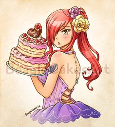 Erza Scarlet by BeagleCakes #fairytail #erza #erzascarlet #anime #kawaii #cute #cake #jerza