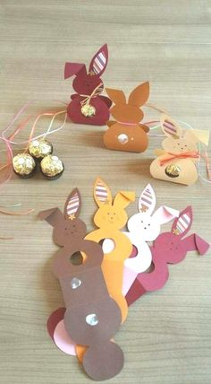 Small gift bags craft ideas for Easter bunnies Projectgardendiy. - Small gift bags craft ideas for Easter bunnies Projectgardendiy. Small gift bags craft ideas for Ea - Bunny Crafts, Easter Crafts For Kids, Fall Crafts, Diy For Kids, Summer Crafts, Nature Crafts, Small Gift Bags, Small Gifts, Papier Diy
