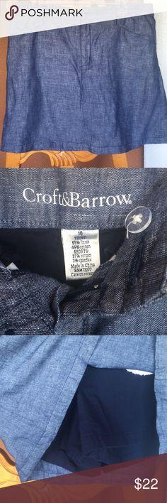 Skort Blue denim look skort with 2 front and 2 back pockets Skirts Midi