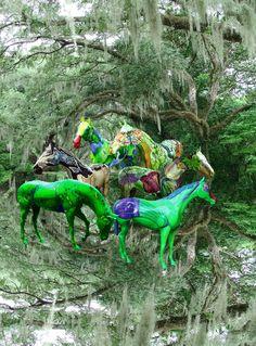 Painted Horses Ocala, Florida / Digital Art Print by Kelly Cline