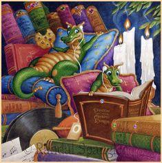 Music Makes Life Better by Randal Spangler Cute Fantasy Creatures, Magical Creatures, Randal, Cute Dragons, Naive, Dragon Art, Fantasy Artwork, Whimsical Art, Cute Illustration