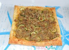 Zucchini Tart with Crumbled Sausage and Dijon