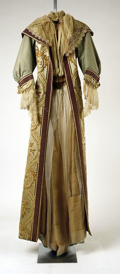 Dress  House of Worth  (French, 1858–1956)  Date: 1896 Culture: French Medium: wool, silk  Metropolitan Museum of Art  Accession Number: C.I.41.14.3