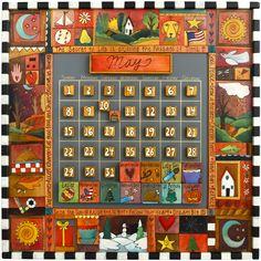 Sticks Perpetual Calendar CAL001-D70209, Artistic Artisan Designer Perpetual Calendars