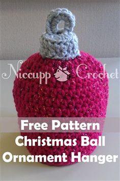 Christmas Ornament Hat Topper/Hanger - Crochet Me