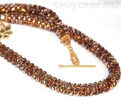 Free Tutorial for Czech Super Duo Beaded Rope - By Mary Lindell