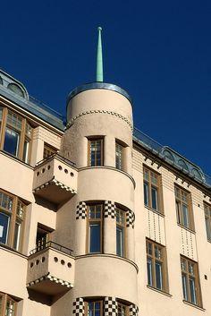 Art Nouveau in Helsinki, Finland Art Nouveau Architecture, Architecture Old, Finland Travel, Scandinavian Countries, European Countries, Capital City, Helsinki, Time Travel, Northern Exposure