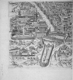 "Pirro Ligorio's ""Antiquae Urbis Romae Imago"" (Image of the Ancient. Ancient Ruins, Ancient Rome, Rome Map, Roman Architecture, Greek History, Travel Illustration, Medieval, Vintage World Maps, Fantasy"