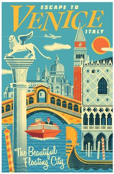 Venice Travel Poster.