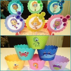 Bubble Guppies Cupcake Wrappers/Toppers
