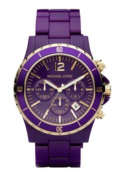 Michael Kors purple  gold watch!  LOVE this for Sat nights in Tiger Stadium!!