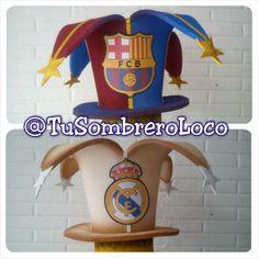 #RealMadrid vs #BarcelonaFC #sombrero #fanáticos #fútbol #mundial #Brasil2014 #horaloca #carnaval2014 #fiesta
