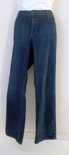 Talbots Women's Size 16 Jeans Dark Wash Heritage Straight Leg 32 Inseam #Talbots #StraightLeg