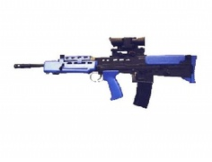 The L85A2 Rifle is a single shot Airsoft BB gun firing 6mm plastic bb's that replicates the real life assault rifle used by the British Army.    This SA80 BB gun needs to be cocked every time to fire, with a magazine capacity of 25 bb's.