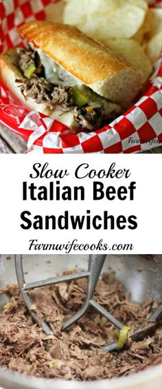Are you looking for a tried and true beef roast recipe for dinner? This slow cooker Italian Beef Sandwich recipe is easy to toss together and makes a yum-my meal!