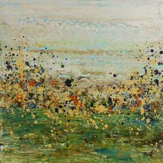"""Saatchi Art Artist Lisa Carney; Painting, """"Scattered Meadow Rue (Featured Painting)"""" #art"""