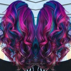 Teals, pinks, and purples hair