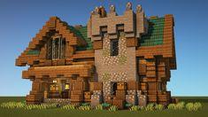 Minecraft Starter House, Minecraft House Plans, Easy Minecraft Houses, Minecraft Medieval, Minecraft Room, Amazing Minecraft, Minecraft Blueprints, Minecraft Buildings, Minecraft Building Designs