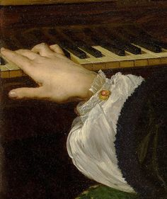'A Day Dream'  Edward John Poynter  'A Day Dream' (detail with hand) 1863
