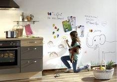 Mit Magnetfarbe und Tafelfarbe zur Whiteboard-Wand