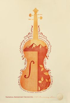 The National Repertory Orchestra Poster