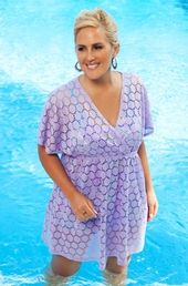 Women's Plus Size Cover Ups - Always For Me Cover Maui Tunic #7008X - LILAC $29.25