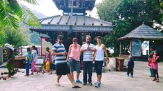 Namaste from our new volunteers at Barahi Temple!