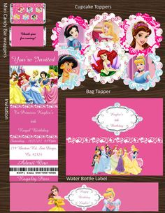 Disney Princess themed party favors